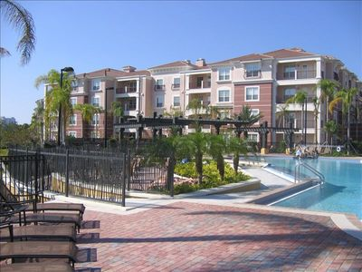 Orlando condo rental - 3 floor end unit next to pool/clubhouse