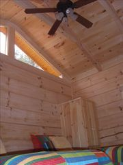 Berkeley Springs cabin photo - Ceiling fans in each room. Twin room shown.