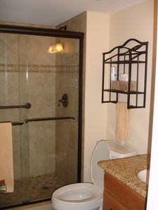 New Smyrna Beach condo rental - Master Bath