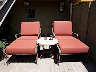 Lounge chairs in front yard. - Phoenix townhome vacation rental photo