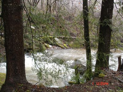 Hear sounds of bold creek surrounding property