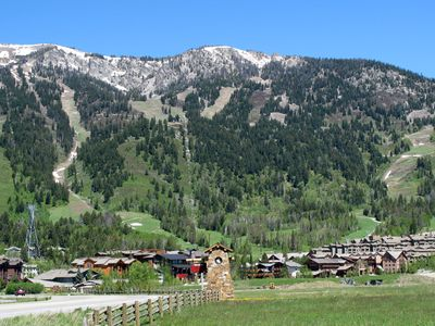 Summer shot of Teton Village
