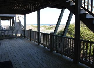 Surf City house photo - Covered Deck on first floor