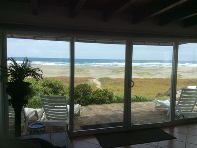 View of the beach from the living room.