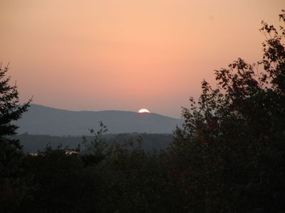 Sunset over Levenseller Mountain from house