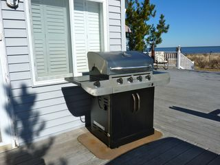 Slaughter Beach house photo - The large gas grill is just steps from the kitchen