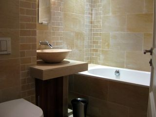 Villefranche-sur-Mer apartment photo - Marble bathroom with full bath and shower