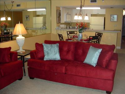 Sundestin condo rental - Sleeper Sofa, Dining, Kitchen