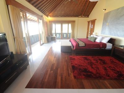 Luxurious Master bedroom with opening 270 deg veranda to catch the ocean breeze