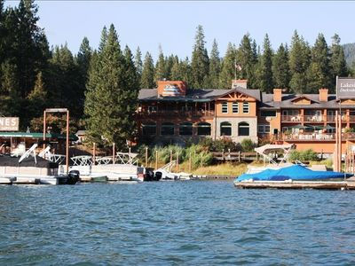 Duceys Resort & Restaurant & Bass Lake Marina (where you can rent a boat slip)