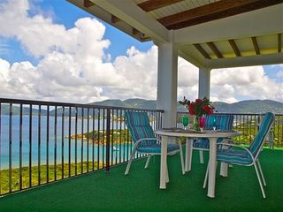 Water Island house photo - Veranda dining with views of St. Thomas and beyond