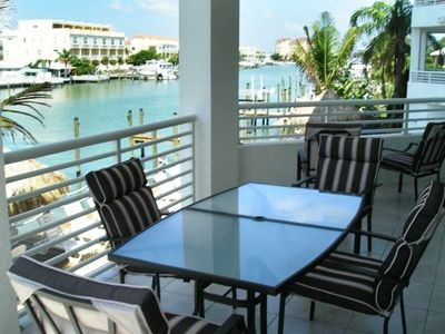 Clearwater Beach condo rental - Patio overlooking channel