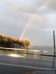 Rainbows over the lake