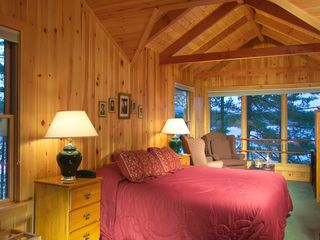 Raymond lodge photo - Master Bedroom with great views, gas fireplace, jetted tub, private sitting area