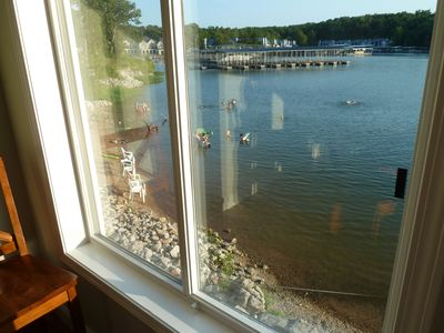 Osage Beach condo rental - Wow!!! Now that's close. The view of the beach area from the kitchen window.