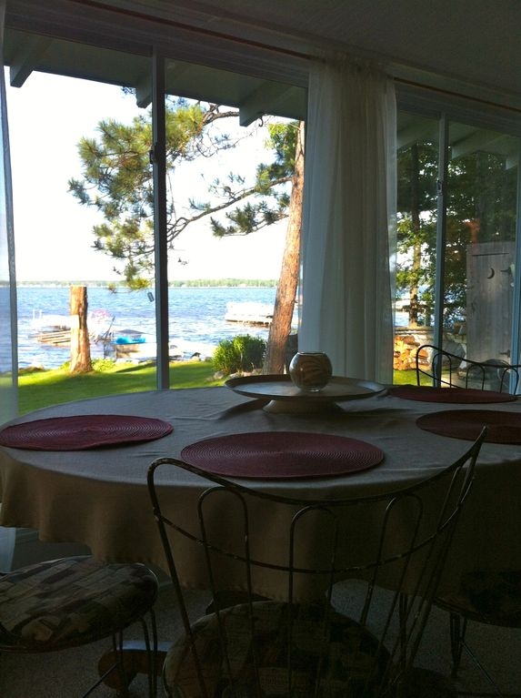 Dine with a view of Lake Mitchell