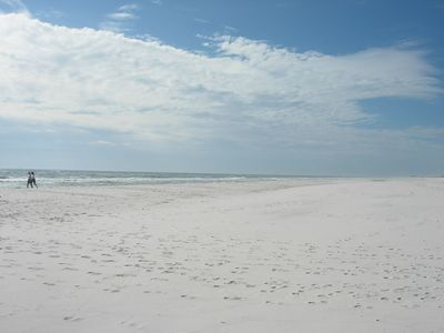 White sandy beaches are only one mile away at the wildlife preserve