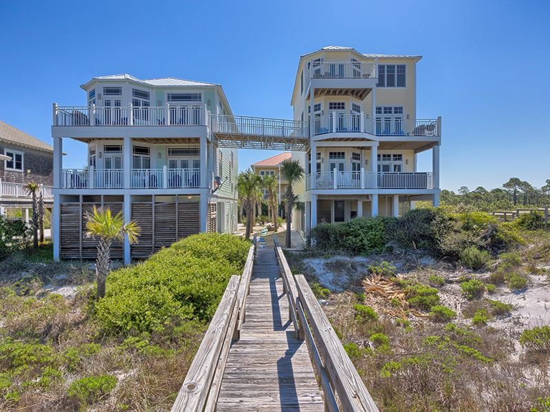 Giant gulf front beach homes for wedding homeaway cape san blas - Big mansions with pools on the beach ...