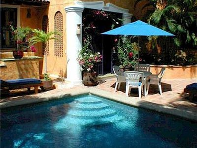 Sayulita villa rental - Villa Swimming Pool and Main Entrance Gates.