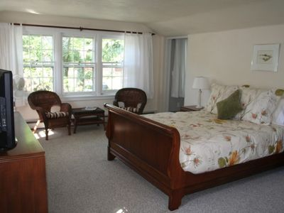 Woodstock house rental - bedroom #2 - master bedroom has private bath, walk-in closet, library room