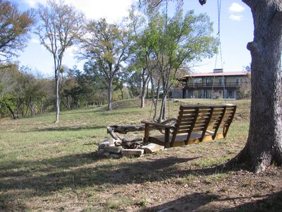 Lampasas house rental - Lazy afternoons under majestic oaks.