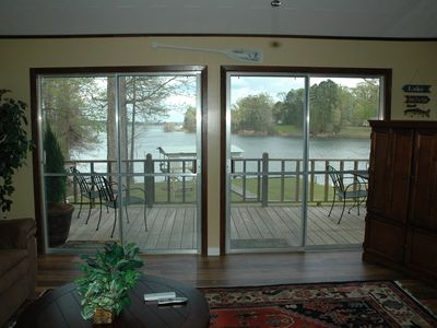 Awesome Lakefront view from living room!