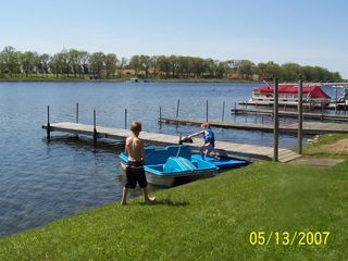 Angola cottage photo - Lake Front 75 feet & dock