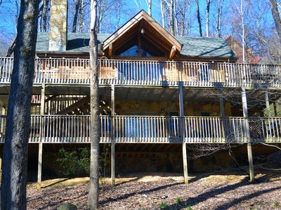 Beautiful wrap around decks on both levels. Access right from the bedrooms.