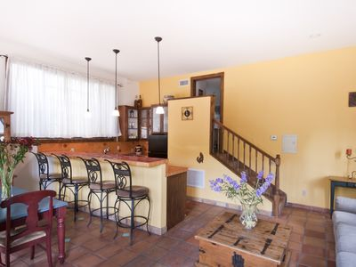 dining area & breakfast bar of casita