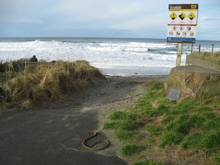 Easy decline (no stairs) beach access a little farther away. - Lincoln City house vacation rental photo