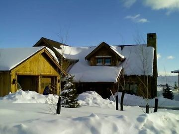 The Trapper Cabin covered in Utah Powder
