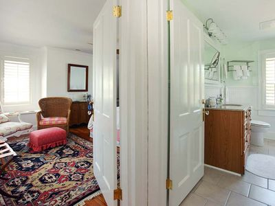 The Chesapeake room and its full bathroom.