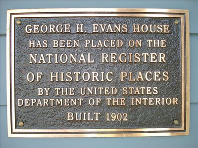 Registry Plaque on Front Porch