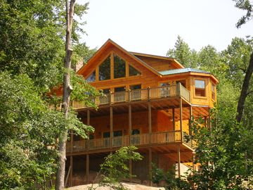 Lake Lure cabin rental - View of Back of Dancing Falls