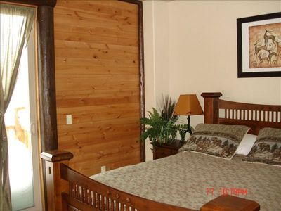 Big Bear City house rental - Master Suite upstairs Front with queen size bed