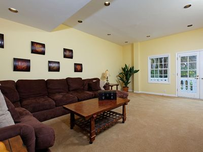 "Comfy family room with DVD, 42"" flat screen TV, and family games!"