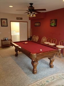 Pool table on first floor for Gaming with Washer /Dryer combo