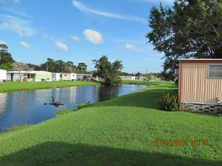 New Port Richey mobile home photo - Looking South from the Rear Patio