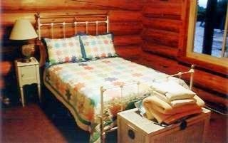 One of 2 downstairs bedrooms. Master is upstairs. - Mesa Verde cabin vacation rental photo
