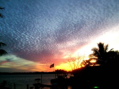 Cape Coral cottage rental - Sunset, 15 minutes later.