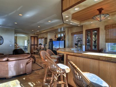 Family Room with Safari wet bar