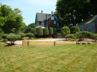 Narragansett Pier house photo - View from backyard - private grounds on over 1/2 acre