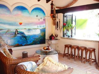 Puerto Vallarta villa photo - Living Room and Bar Area