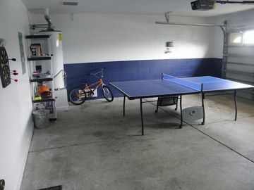 Ping Pong table/ Dart Board, basketball,tennis rackets and balls, boys bike