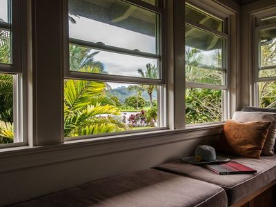 Window Seat Overlooking Menehune Fish Pond and Pastures