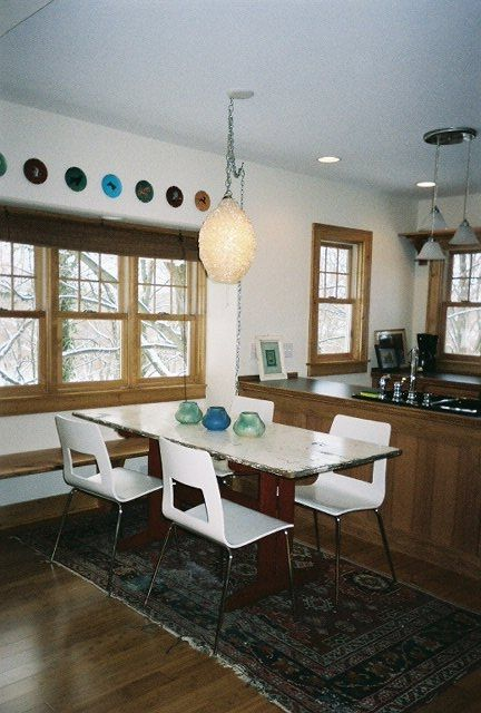 Dining area with window seat