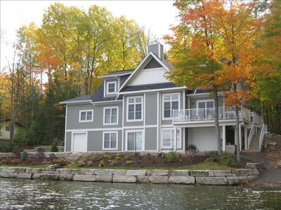 Stunning View from the Lake of New Linwood Lakehouse