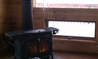 Salida house photo - Nothing like the comforting warmth of a woodstove on a snowy afternoon!
