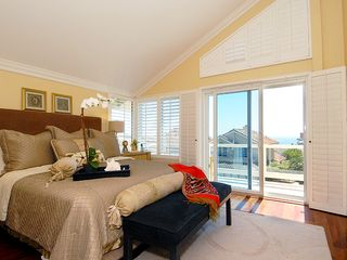 Dana Point house photo - Master bedroom with ocean view