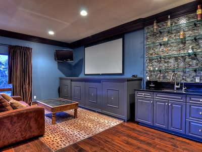 Carlsbad house rental - large screen projection TV for video games plus chill your drinks at bar fridge